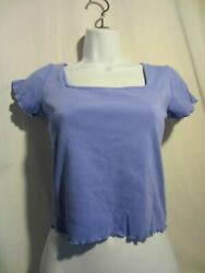 DELIA#x27;S DOLLS KILL purple lavender short sleeve crop top L $11.99