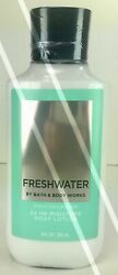 BATH AND BODY WORKS*FRESHWATER*Mens Lotion Cream*NEW*Free Shipping AUTHENTIC $12.95