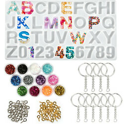 Keychain Molds for Resin Casting Epoxy Silicone Molds DIY Craft Pendant Making $10.99