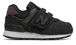New Balance Infant 574 Hook and Loop Shoes Black $16.74