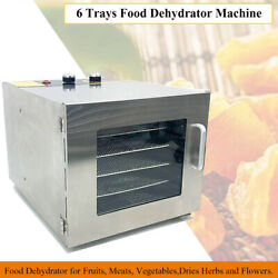 Food Dehydrator 6Tray Professional Commercial for Fruits Dries Herbs and Flowers