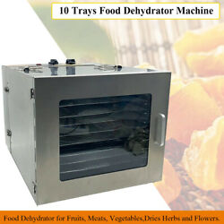 Food Dehydrator 10Tray Professional Commercial for Fruits Dries Herbs and Flower