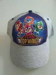 New Shopkins toddler boys baseball cap featuring TEAM TOP WING in Heather Grey $10.99