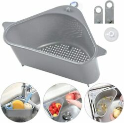 2PC Sink Drain Filter Basket Strainer Shelf Storage Rack Sponge Holder Organizer $7.59