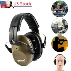 US Denoise Ear Muffs Protection 26db Hearing Ear Shooting Gun Range Headphones $15.19