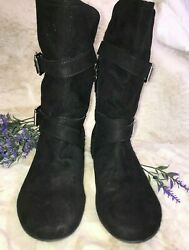 Report Black Girls Boots Size 4 A16 $23.99
