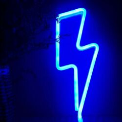 Lightning Neon Light Sign Night Light Operated by USB Battery Kids Room Decor 1x $13.89