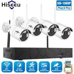 Hiseeu 8CH 1080P CCTV Wireless NVR WiFi Security Camera Surveillance IP System $143.99