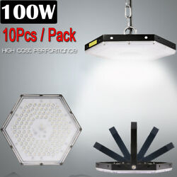 10 Set 100W LED High Bay Light Factory Warehouse Commercial Lighting Chandelier