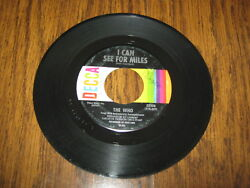 45 RPM THE WHO I CAN SEE FOR MILES $6.99