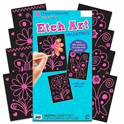 flower amp; butterfly etch valentines toys amp; games $12.00