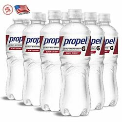 12 PACK Propel Black Cherry Zero Calorie Water Beverage With Vitamins Camp;E 24 oz $13.25