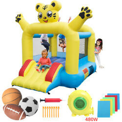 Inflatable Bounce House Big Activity Room Kids Slide Jump Castle with Air Blower $165.98