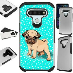 FUSION Case for LG Hybrid Phone Cover SNOW PUG DOG $13.50