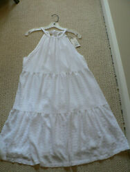 A New Day Women#x27;s White Beach Sundress Medium New with Tags $19.95