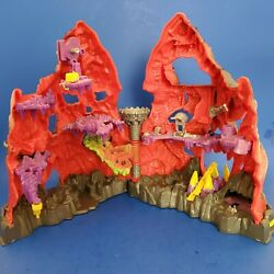 VINTAGE 90#x27;s MIGHTY MAX TRAPPED IN SKULL MOUNTAIN CASTLE PLAYSET $30.35