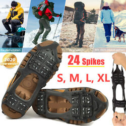 Ice Snow Grips Anti Slip On Over shoe Boot Studs Crampons Cleats Spikes Grippers $12.99
