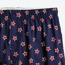 J. Crew Mens S Small Navy Red Star Cotton Boxers Boxer Shorts Critter $8.23