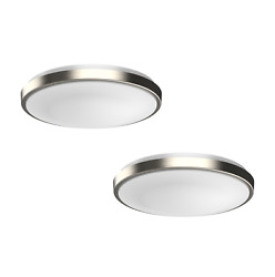 2 PACK Dimmable LED Flush Mount Ceiling Light Fixture Modern Silver Ring 11quot; 13quot; $69.99