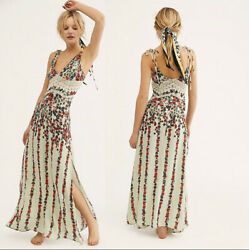 NWT Free People Intimately Claire Floral Maxi Dress XS Sleeveless $108 $79.99