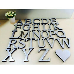 26 Letters DIY 3D Mirror Acrylic Wall Sticker Decals Home Decor Wall Art Mural $7.51