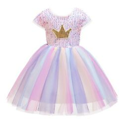 Girls Party Dresses Bridesmaid Flower Wedding Formal Pageant Kid Princess $28.99