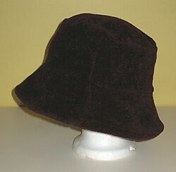ROBERT KITCHEN CANADA BURGUNDY FLEECE BUCKET HAT WOMEN#x27;S ONE SIZE OS $14.99
