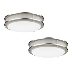2 PACK Dimmable LED Flush Mount Ceiling Light Fixture Ring Modern 10quot; 12quot; 14quot; 16 $59.99