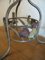Rooster Chandelier Burnished Bronze 3 Arm Hanging Light Country amp; lamp shades $105.00