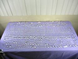 ENORMOUS Lot of 650 Glass Chandelier Prisms Button Rectangle Graduated Strings $399.99