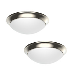 2 PACK Dimmable LED Flush Mount Ceiling Light Fixture 11quot; Modern Dome 3 Colors $35.99