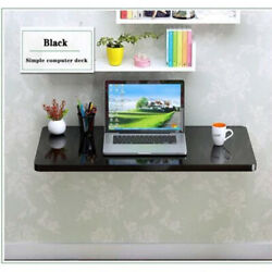 Black Wall Mount Floating Folding Computer Desk For Home Office PC Table Nice $27.90