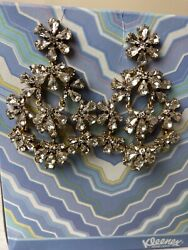 J. Crew rhinestone chandelier earrings Wedding Special Event Prom Party $38.90