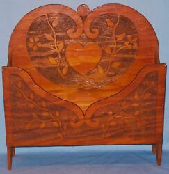 ANTIQUE BURNTWOOD FLOOR DESK TABLE TOP STAND HOLDER PAPER MAGS CA EARLY 1900#x27;s $110.00