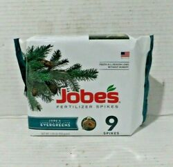 Jobes Fertilizer Spikes Evergreen 9 spikes 1.98 lbs. Sealed $6.00