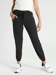 Athleta Recover Bounce Back Jogger Sweatpants Black SIZE 3X #487575 T0920 $52.79