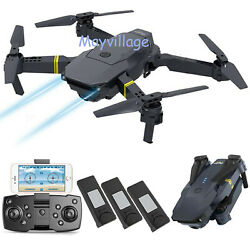 Camera Drone Foldable Aircraft RC Quadcopter Wide Angle HD Selfie FPV Wifi 4K $59.99