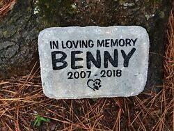 Pet Memorial Cat or Dog personalized engraved sandcarved pavers stone $31.95