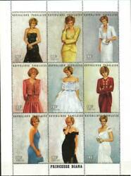 Togo Stamp Princess Diana in designer gowns Stamp NH