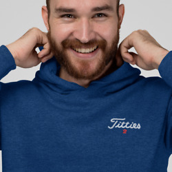 Titties Golf Shirt Embroidered Sweatshirt HOODED up to 5X $28.95