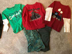Lot Of Boy Clothes Size 3T Toddler Fall Winter Tshirts And Pants $10.00