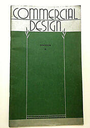 Commercial Design Art Instruction Inc Div 6 Drawing Textbook 1945 Art Deco VGVC