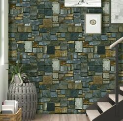BLUE STONE 3D WALLPAPER SELF STICK EASY PROJECT $9.99