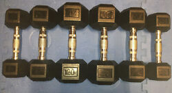 NEW COATED RUBBER HEX DUMBBELLS select weight 5 1015 20 2530 SET LOTS L@@K $229.99