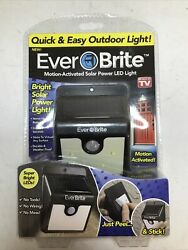 EverBrite Motion Activated Solar Power LED Outdoor Light Brand New As Seen On TV