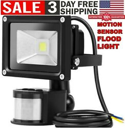 Outdoor Motion Sensor LED Flood Light Waterproof Security Safety Wall Lamp Spot