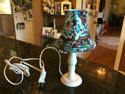 Vera Bradley Java Blue 11quot; Small Lamp with quot;Java Bluequot; lamp shade Retired Rare $24.99
