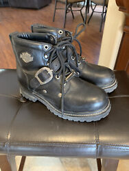 Harley Davidson Womens Boots Tegan With Buckle Size 6.5 M $35.00