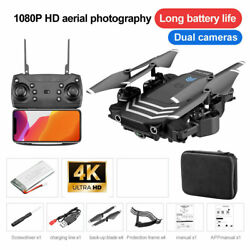 Foldable FPV RC Quadcopter Drone with 4K HD WIFI Dual Camera Headless 3Batteries $47.88