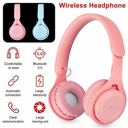 Bluetooth 5.0 Headset Wireless Stereo Girls Headphones Over Ear Noise Cancelling $6.64